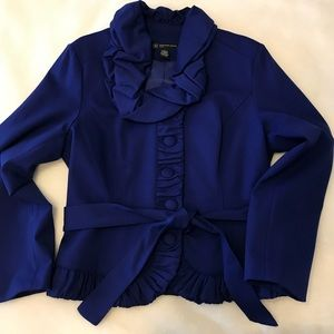 INC - blue jacket, petite large
